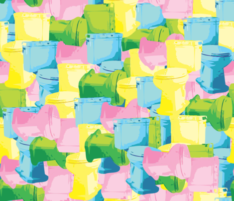 Commode Commotion fabric by illustrative_images on Spoonflower - custom fabric