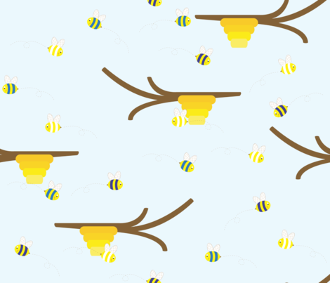 Winter Buzzing fabric by illustrative_images on Spoonflower - custom fabric