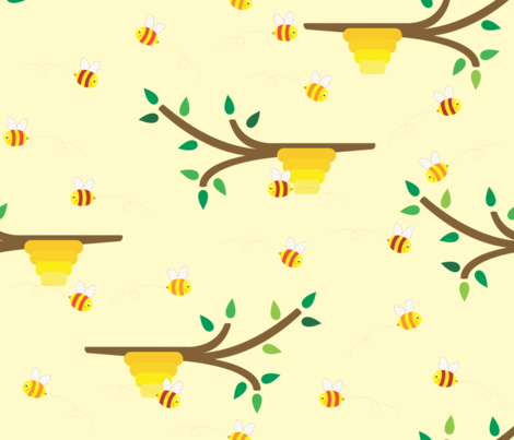 Summer Buzzing fabric by illustrative_images on Spoonflower - custom fabric