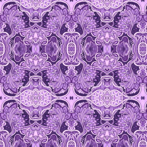 Life on a Lavender Planet fabric by edsel2084 on Spoonflower - custom fabric