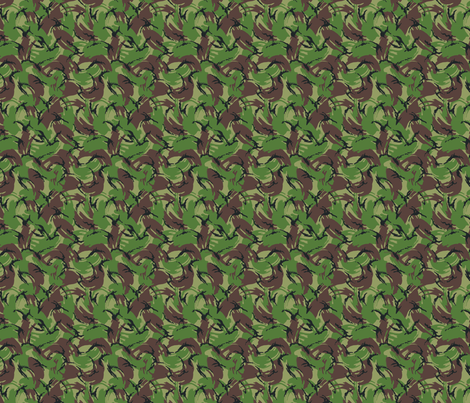 Sixth Scale British DPM Temperate Camo, Alternate Colors fabric by ricraynor on Spoonflower - custom fabric