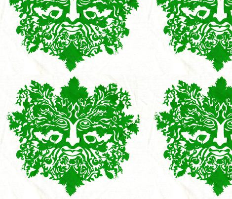 greenman-ed-ed fabric by cherb on Spoonflower - custom fabric
