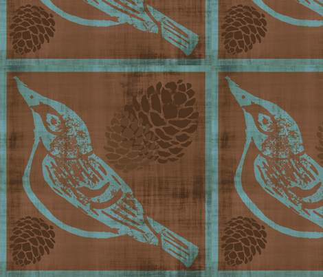 Black Capped Vireo - Cut and Sew Pillow fabric by owlandchickadee on Spoonflower - custom fabric
