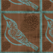 Black Capped Vireo - Cut and Sew Pillow