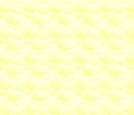Baby Yellow Clouds fabric by yomarie on Spoonflower - custom fabric