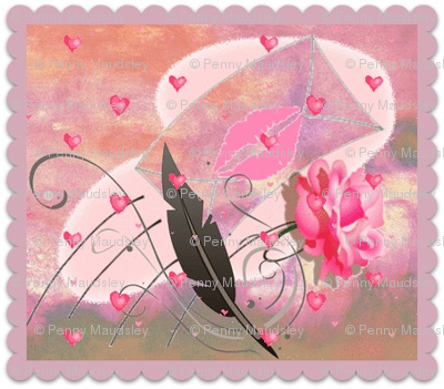 SEALED WITH A KISS POSTAGE STAMPS
