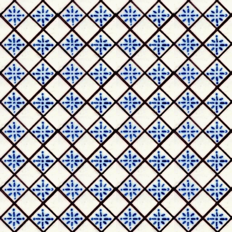 Antique French Tile fabric by materialsgirl on Spoonflower - custom fabric