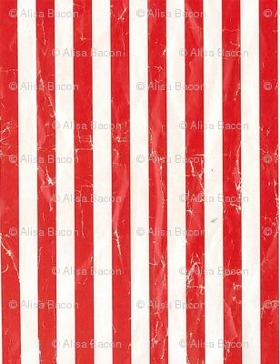 scuffed red stripe squares