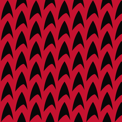 TrekLogo-Red fabric by knitmileofdoom on Spoonflower - custom fabric