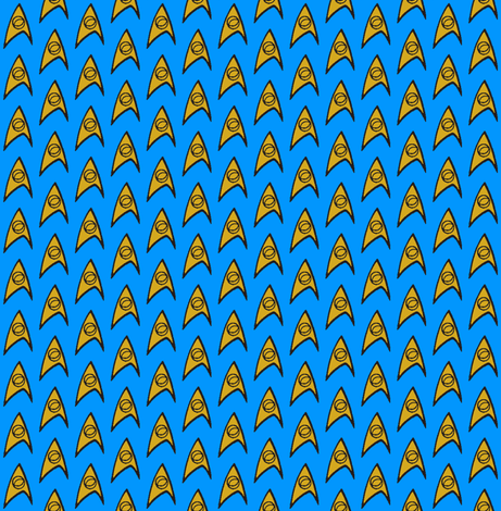 TrekLogoOS fabric by knitmileofdoom on Spoonflower - custom fabric