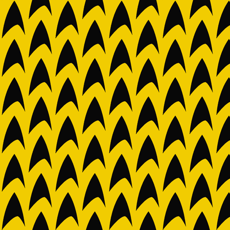TrekLogo-Yellow fabric by knitmileofdoom on Spoonflower - custom fabric