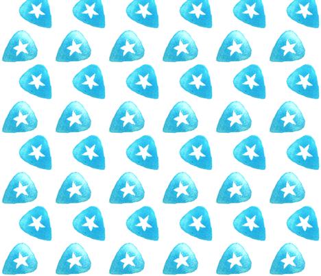 Star Guitar Pick - Blue fabric by owlandchickadee on Spoonflower - custom fabric
