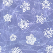 cut paper snow stars in blowing snow