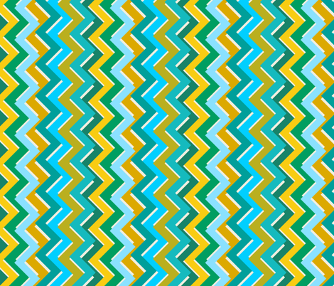 Crowded chevron fabric by darcibeth on Spoonflower - custom fabric