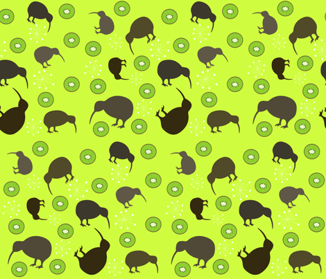 Kiwi fabric by graceful on Spoonflower - custom fabric