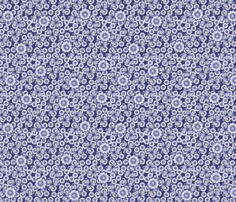 floral_paper_-_periwinkle fabric by glimmericks on Spoonflower - custom fabric