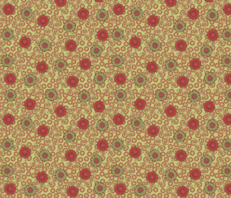 floral_paper_-_pimento fabric by glimmericks on Spoonflower - custom fabric