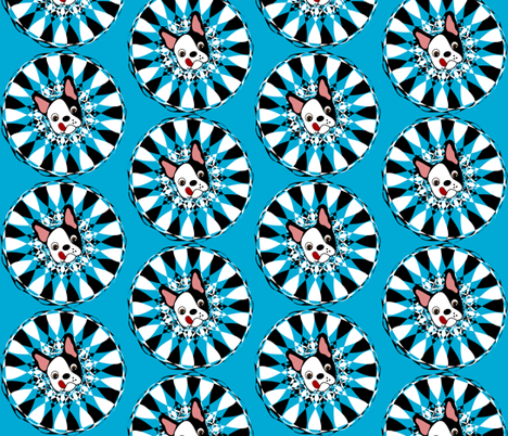 Don't be blue!  fabric by missyq on Spoonflower - custom fabric