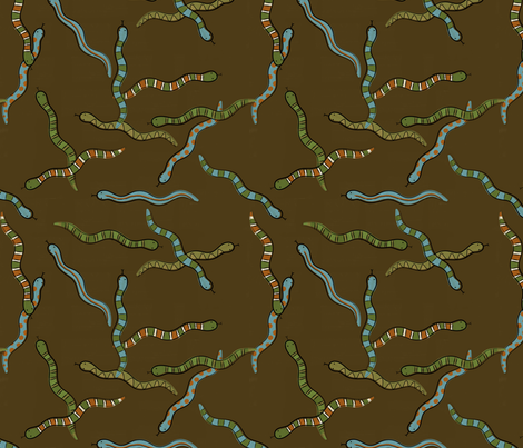 Jake's Snakes fabric by jenimp on Spoonflower - custom fabric