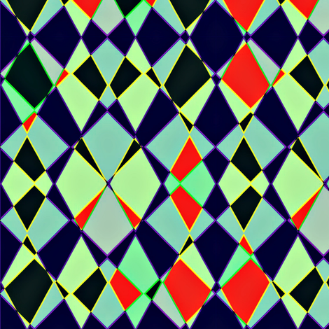 Complementary Collision  fabric by whimzwhirled on Spoonflower - custom fabric