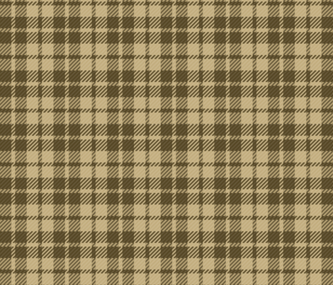 Palaka Beehive Tan plaid fabric by waiomaotiki on Spoonflower - custom fabric