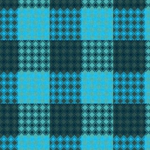 Palaka bluegreen plaid