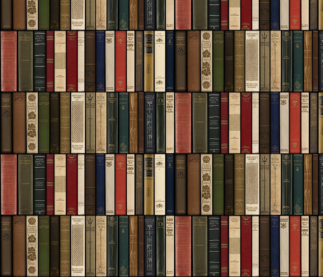 Madame Fancypantaloons' Instant Library ~ Petite fabric by peacoquettedesigns on Spoonflower - custom fabric