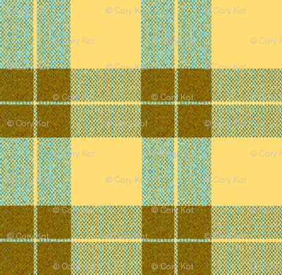 Yellow Palaka brown plaid, teal