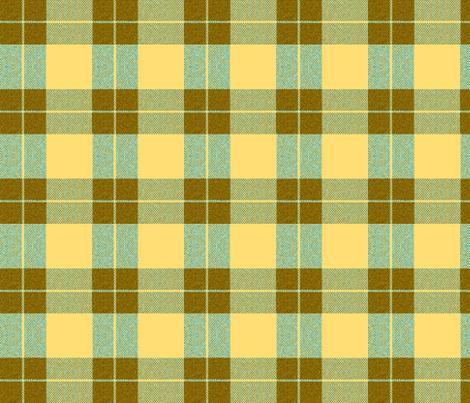 Yellow Palaka brown plaid, teal fabric by waiomaotiki on Spoonflower - custom fabric