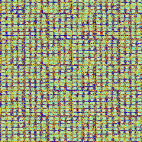gridz: multi colored, turquoise, blue, yellow.. fabric by materialsgirl on Spoonflower - custom fabric