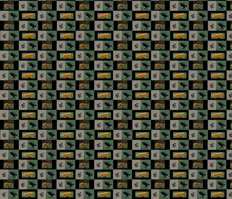 minecraft_kitties-black fabric by ceruleana_fiber_arts on Spoonflower - custom fabric