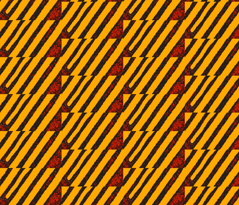 Thinking of Kuba Cloth Today fabric by susaninparis on Spoonflower - custom fabric