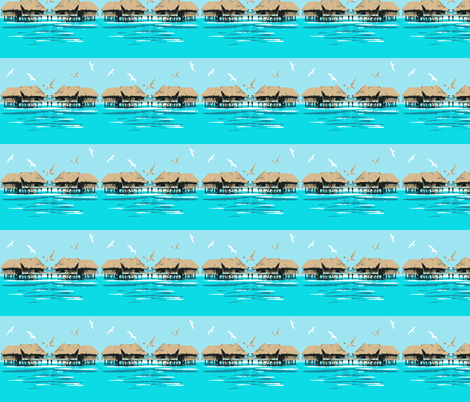 Holiday in Paradise fabric by cutiecat on Spoonflower - custom fabric