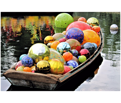 Chihuly Glass Floats in a Boat fabric by betsyb67 on Spoonflower - custom fabric