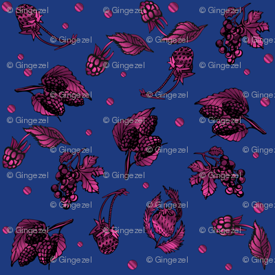 Berry Ditzy on Navy  Gingezel 2013
