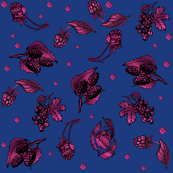 Berry Ditzy on Navy © Gingezel