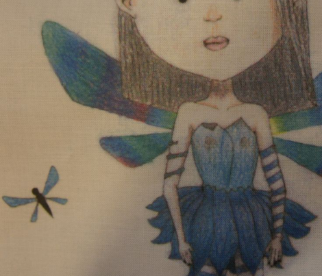Pretty blue fairy