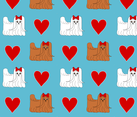Foo Foo Love  fabric by missyq on Spoonflower - custom fabric