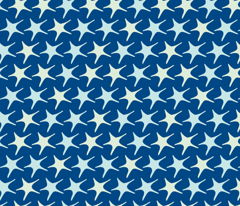 Matisse stars blue fabric by pinkbrain on Spoonflower - custom fabric