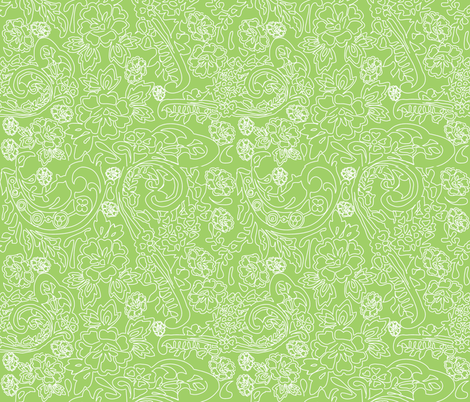 Lace Green fabric by curious_nook on Spoonflower - custom fabric
