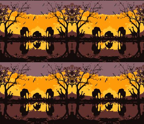 Safari-tour fabric by cutiecat on Spoonflower - custom fabric