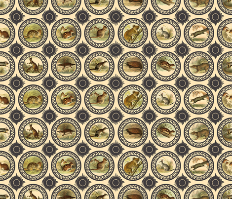 Australian animals #1 fabric by mel_w on Spoonflower - custom fabric