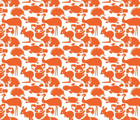 Oz Love Orange fabric by bjornonsaturday on Spoonflower - custom fabric