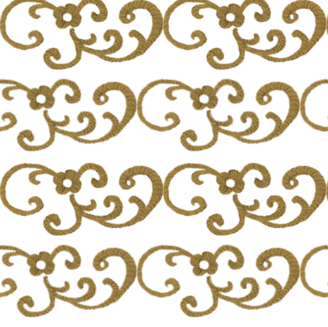 Gold Scrollwork fabric by peacoquettedesigns on Spoonflower - custom fabric