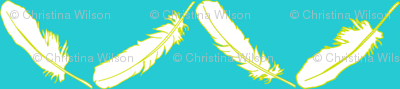 Feather Chevron Turquoise