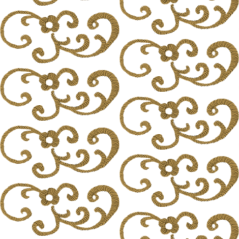 Gold Scrollwork II fabric by peacoquettedesigns on Spoonflower - custom fabric