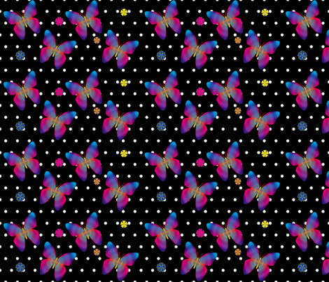 Butterfly Glow Polka Medium fabric by glanoramay on Spoonflower - custom fabric