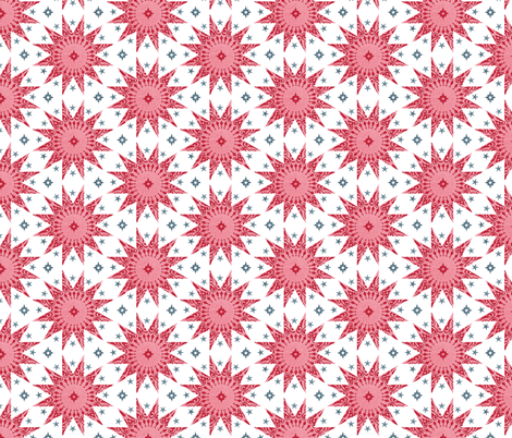 Rose Chintz Stars fabric by spellstone on Spoonflower - custom fabric