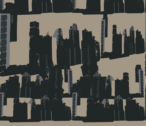 Skyline Beige fabric by findbigdetails on Spoonflower - custom fabric