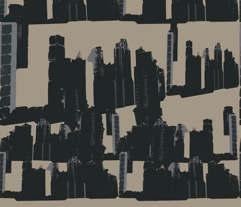 Skyline Beige fabric by findbigdetails on Spoonflower - custom fabric
